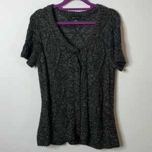 BCBGMaxAzria Two button short sleeved Cardigan